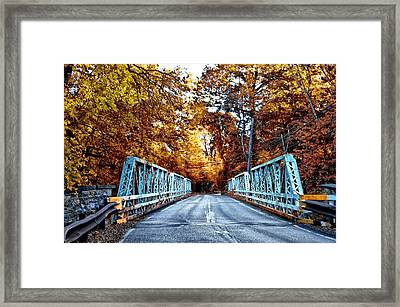 Valley Green Road Bridge In Autumn Framed Print
