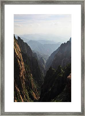Valley In Huangshan Framed Print