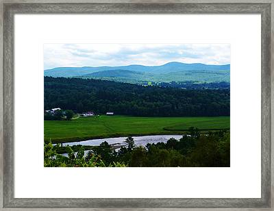 Valley Maine Framed Print by Josee Dube