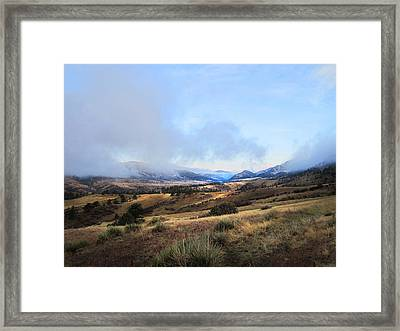 Valley Mist Framed Print by Ric Soulen