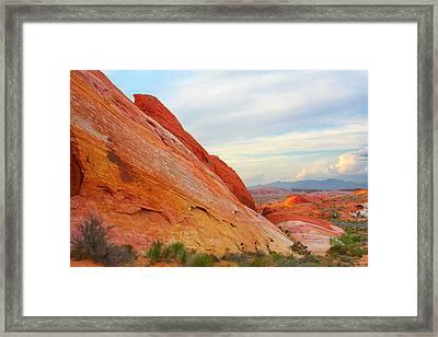 Valley Of Fire - A Pristine Beauty Framed Print by Christine Till