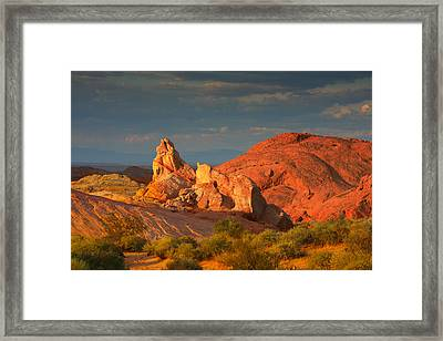 Valley Of Fire - Picturesque Desert Framed Print by Christine Till
