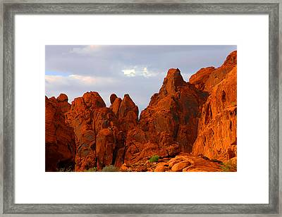 Valley Of Fire - The Landscape Burns Framed Print by Christine Till