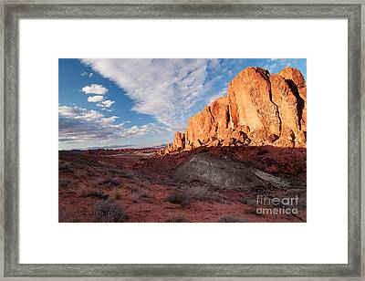 Framed Print featuring the photograph Valley Of Fire by Art Whitton