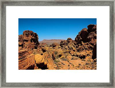 Valley Of Fire Framed Print by Ryan Baxter