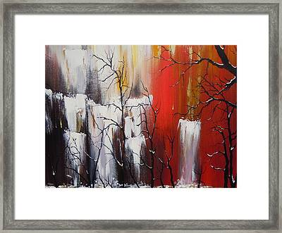 Valley Of Shadows Framed Print by Dan Whittemore