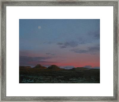 Valley Of The Gods Plein Air Framed Print