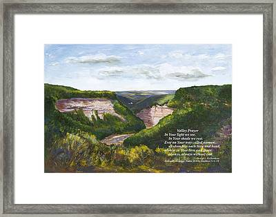 Valley Prayer With Poem Framed Print