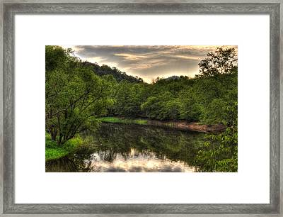 Valley River Framed Print