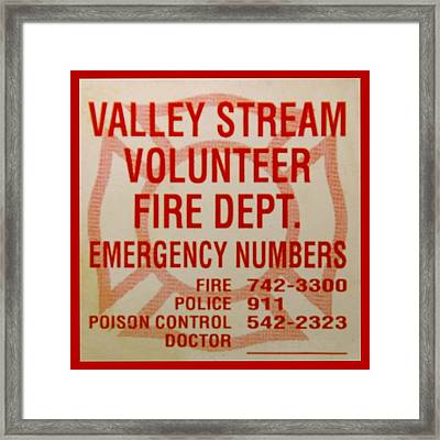 Valley Stream Fire Department Framed Print by Rob Hans