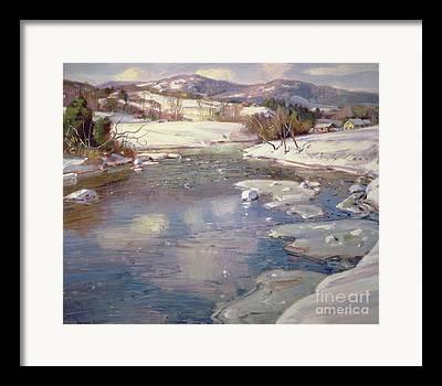 Deerfield River Framed Prints