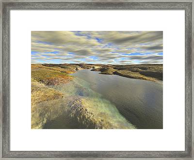Valley Stream Framed Print