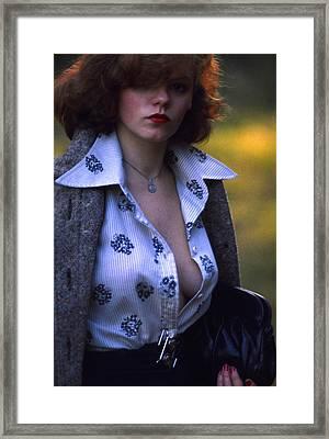 Vamp Or Femme Fatale Framed Print by Franz Roth