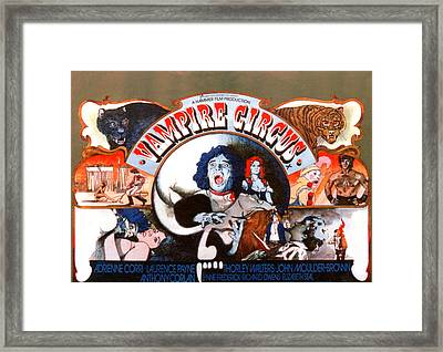 Vampire Circus, Anthony Corlan Center Framed Print by Everett