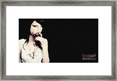 Vampire. Framed Print by Red Deviant