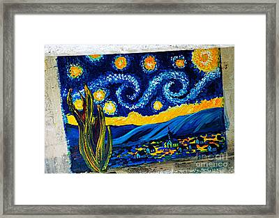 Van Gogh Graffiti Framed Print