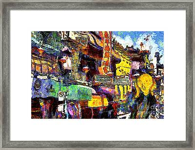 Van Gogh Meets Up With The Screamer In San Francisco Chinatown . 7d7174 Framed Print