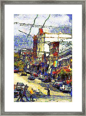 Van Gogh Takes The Right Turn And Rediscovers The Castro In San Francisco . 7d7572 Framed Print by Wingsdomain Art and Photography