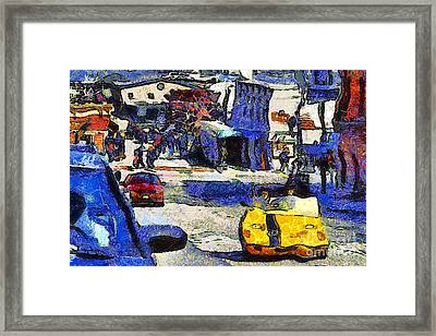 Van Gogh Tours The Streets Of San Francisco 7d14100 Framed Print by Wingsdomain Art and Photography
