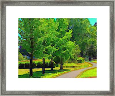 Framed Print featuring the mixed media Van Gogh Trees by Terence Morrissey