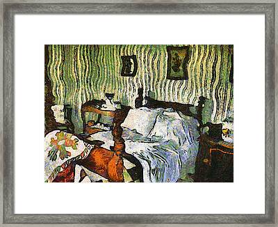 Van Gogh's Bedroom Framed Print by Mario Carini