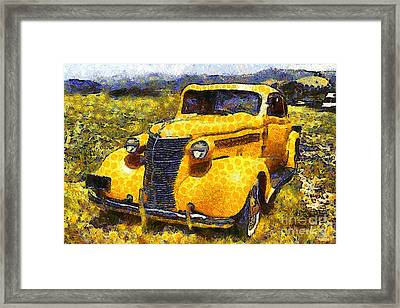 Van Gogh.s Old Ride 7d15315 Framed Print by Wingsdomain Art and Photography