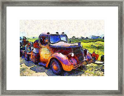 Van Gogh.s Rusty Old Jalopy . 7d15500 Framed Print by Wingsdomain Art and Photography