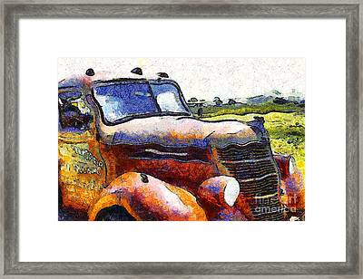 Van Gogh.s Rusty Old Truck . 7d15509 Framed Print by Wingsdomain Art and Photography