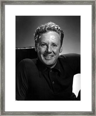 Van Johnson, Wearing A Polo Shirt Framed Print