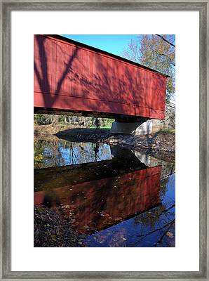 Framed Print featuring the photograph Van Sant Covered Bridge by Steven Richman