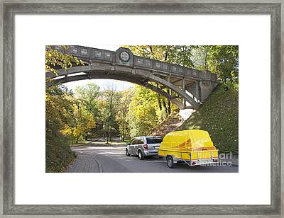 Van Towing A Trailer Framed Print by Jaak Nilson