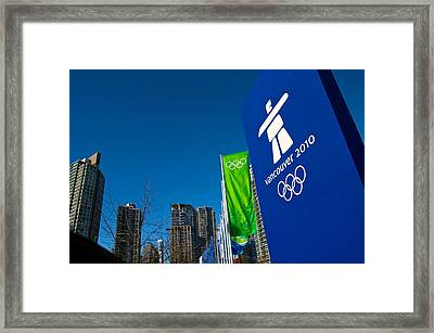 Framed Print featuring the photograph Vancouver 2010 by JM Photography