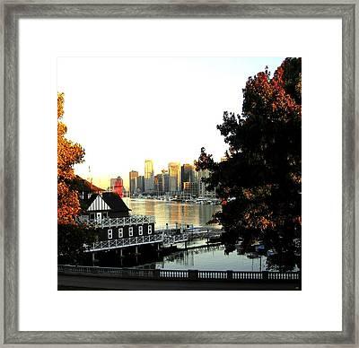 Vancouver At Sundown Framed Print by Will Borden
