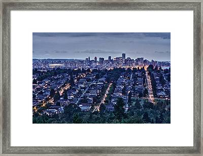 Framed Print featuring the photograph Vancouver Bc Canada by Scott Holmes