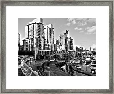 Vancouver Harbour Bw Framed Print