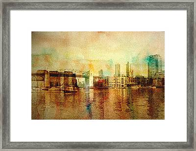 Vancouver Water Color Framed Print by Barbara  White