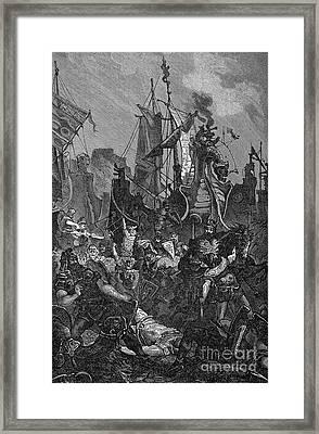 Vandal Invasion Of Africa Framed Print by Granger