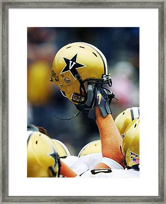 Vanderbilt Commodore Helmet  Framed Print