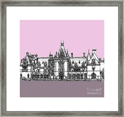 Vanderbilt's Biltmore House In Pink Framed Print by Building  Art