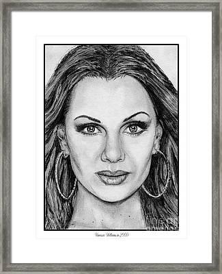 Vanessa Williams In 2009 Framed Print