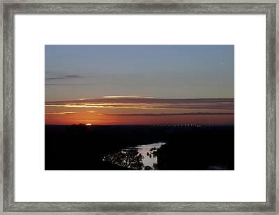 Framed Print featuring the photograph Vanishing Sunset by Maj Seda