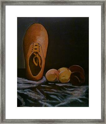 Vans And Peaches Framed Print by Haley Lightfoot