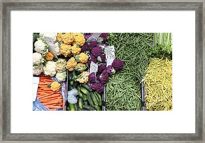 Variety Of Fresh Vegetables - 5d17900-long Framed Print by Wingsdomain Art and Photography