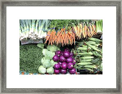 Variety Of Fresh Vegetables - 5d17910 Framed Print by Wingsdomain Art and Photography