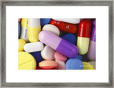 Variety Of Pills Framed Print by M. I. Walker