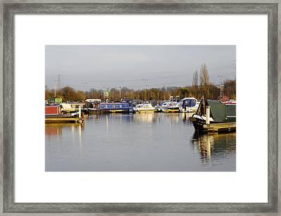Various Boats At Barton Marina Framed Print by Rod Johnson