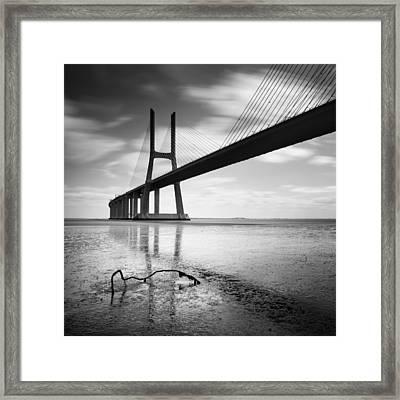 Vasco Da Gama Bridge I Framed Print by Nina Papiorek