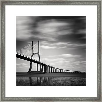 Vasco Da Gama Bridge IIi Framed Print by Nina Papiorek