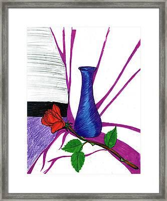 Vase Framed Print by Harry Richards