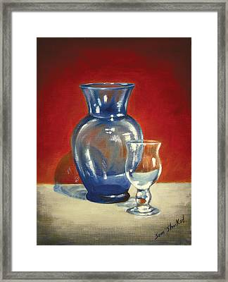 Vase N Glass Goblet Framed Print by Sam Shacked